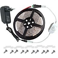 お買い得  -KWB 5m ライトセット 300 LED 3528 SMD 温白色 / ホワイト / レッド リモートコントロール / カット可能 / 調光可能 100-240 V / # / IP65 / 防水 / 接続可 / 車に最適