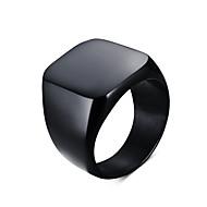 Bărbați Inel de declarație Inel sigiliu Oțel titan Personalizat Vintage European stil minimalist Inele la Modă Bijuterii Negru / Argintiu Pentru Zilnic Casual 7 / 8 / 9 / 10 / 11