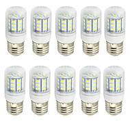 お買い得  LED コーン型電球-10個 2W 280-350lm E26 / E27 LEDコーン型電球 T 27 LEDビーズ SMD 5730 装飾用 温白色 クールホワイト 9-30V 85-265V
