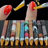 cheap Makeup & Nail Care-1PCS Manicure Tools With Sticky Point Drill Color Random