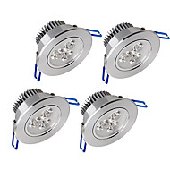 cheap Downlights-450-550 lm 3 LED Beads Dimmable LED Downlights Warm White Cold White Natural White Cabinet Ceiling Showcase / 4 pcs