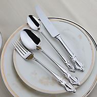 ステンレス鋼304 ディナーフォーク / ディナーナイフ / ティースプーン / スペシャリティスプーン スプーン / フォーク / ナイフ 4個