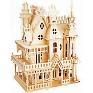 puslespil Træpuslespil Byggesten DIY legetøj Slot 1 Træ Krystal