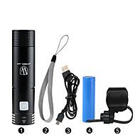 LED svjetiljke / Ručne svjetiljke / Prednje svjetlo za bicikl LED BiciklizamZatamnjen / Vodootporno / Može se puniti / Jednostavno za