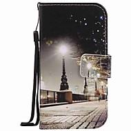 Недорогие Чехлы и кейсы для Galaxy S7 Edge-Кейс для Назначение SSamsung Galaxy S7 edge S7 Бумажник для карт Кошелек со стендом Чехол Вид на город Твердый Кожа PU для S7 edge S7 S6