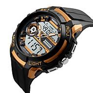 Недорогие Фирменные часы-SKMEI Муж. Спортивные часы Наручные часы Кварцевый Японский кварцLCD Календарь Защита от влаги С двумя часовыми поясами С тремя часовыми