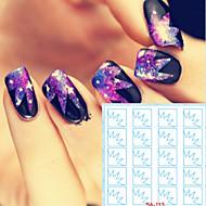 abordables Adhesivos para Uñas-5 Engomada del arte del clavo Diecut manicura de la plantilla maquillaje cosmético Nail Art