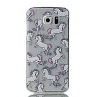 お買い得  携帯電話ケース-ケース 用途 Samsung Galaxy S7 edge S7 超薄型 クリア パターン バックカバー 動物 ソフト TPU のために S7 edge S7 S6 edge S6 S5