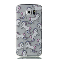 abordables Galaxy S5 Carcasas / Fundas-Funda Para Samsung Galaxy S7 edge / S7 Ultrafina / Transparente / Diseños Funda Trasera Animal Suave TPU para S7 edge / S7 / S6 edge