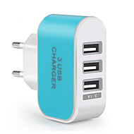 cheap Huawei-Portable Wall Charger USB Travel Charger Adapter EU Plug Multi Ports 3 USB Ports 3.1 A for Mobile Phone