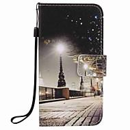 A samsung galaxy j7 j5 (2016) tok borítója városi táj festmény pu telefon tok j5 j3 g360 g530