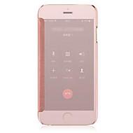 Недорогие Кейсы для iPhone 8 Plus-Кейс для Назначение iPhone 5 Apple iPhone X iPhone X iPhone 8 iPhone 8 Plus Кейс для iPhone 5 Покрытие Зеркальная поверхность Флип Чехол