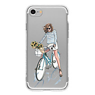 Bike Girl TPU Case For Iphone 7 7Plus 6S/6  6Plus/6S Plus iPhone Cases