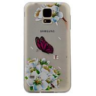 Недорогие Чехлы и кейсы для Galaxy S7 Edge-Кейс для Назначение SSamsung Galaxy S7 edge S7 С узором Кейс на заднюю панель Бабочка Мягкий ТПУ для S7 edge S7 S6 edge S6 S5
