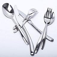 abordables Cubertería-Tenedor de Mesa Cuchillo de Mesa Cuchara de Salsas Cuchara de Especialidades palillos Cucharas Tenedores Cuchillos 4 piezas