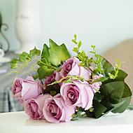 お買い得  文房具-人工花 1 ブランチ 欧風 バラ テーブルトップフラワー