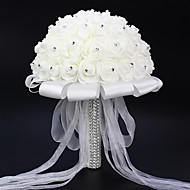 abordables Decoraciones de Boda-Set of 1 PCS 1 Rama Poliéster Rosas Flor de Mesa Flores Artificiales Long 9.84(inch)