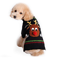 Gato Perro Suéteres Ropa para Perro Bonito Vacaciones Navidad Reno Negro Disfraz Para mascotas
