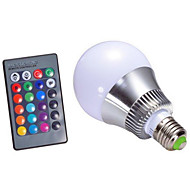 5W E14 GU10 B22 E26/E27 Smart LED-lampe A60(A19) 1 Højeffekts-LED 500 lm RGB Justérbar lysstyrke Fjernstyret Dekorativ Vekselstrøm 85-265