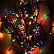 mx-qcd 100l 10 미터 장식 조명 크리스마스 트리 조명 표시 깜박이 자동 색 변경