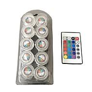 Wodoodporna okrągła świeca światła / rgb / pełny kolor światła led 1box 10szt
