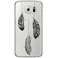 Недорогие Чехлы и кейсы для Galaxy S6 Edge Plus-Кейс для Назначение SSamsung Galaxy S7 edge S7 Ультратонкий Полупрозрачный Задняя крышка  Перья Мягкий TPU для S7 edge S7 S6 edge plus S6