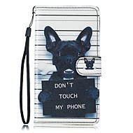 billige Etuier / covers til Galaxy S-modellerne-Etui Til Samsung Galaxy S7 edge S7 Kortholder Pung Med stativ Fuldt etui Hund Hårdt PU Læder for S7 edge S7 S6 S5