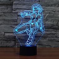 μαύρη χήρα αφής dimming 3D LED φως τη νύχτα 7colorful διακόσμηση φανού ατμόσφαιρα καινοτομία φωτισμού φως των Χριστουγέννων