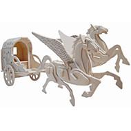 Træpuslespil Legetøjsbiler Legetøj Hestevogn Hest Professionelt niveau Drenge Pige 1 Stk.