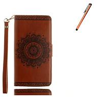 Для Кошелек / Бумажник для карт / со стендом / Флип / Рельефный Кейс для Чехол Кейс для Мандала Твердый Искусственная кожа SamsungS7 edge