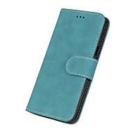voordelige Galaxy J1 Hoesjes / covers-hoesje Voor Samsung Galaxy J7 (2016) J5 (2016) Kaarthouder Portemonnee Flip Volledig hoesje Effen Kleur Hard PU-nahka voor J7 (2016) J7