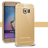 cheap Cases / Covers for Samsung-Case For Samsung Galaxy Samsung Galaxy Case Plating Mirror Back Cover Solid Color PC for S7 edge S7 S6 edge plus S6 edge S6 S5 S4 S3