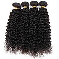 Недорогие Искусственные накладки и пряди-Человека ткет Волосы Бразильские волосы Kinky Curly 12 месяцев 3 предмета волосы ткет