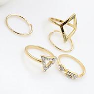 abordables Turquesa-Mujer Cristal Juego de Joyas - Turquesa, Legierung Moda 6 Plata / Dorado Para Fiesta Diario Casual