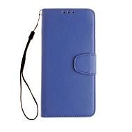 お買い得  携帯電話ケース-ケース 用途 Google カードホルダー ウォレット フルボディーケース 純色 ハード PUレザー のために Google Pixel XL Google Pixel
