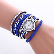 cheap Watch Deals-Women's Quartz Wrist Watch Bracelet Watch Colorful PU Band Heart shape Vintage Casual Bohemian Fashion Cool Bangle Black White Blue Red