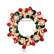 cheap Christmas Jewelry-Women's Floral Flower Brooches - Floral / Flower Style / Flowers Circle / Geometric Rainbow Brooch For Party / Casual