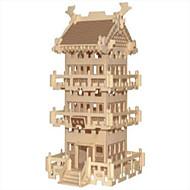 Puzzle Drewniane puzzle Cegiełki DIY Zabawki Kula / Znane budynki / Chińska architektura 1 Drewno Kryształowy Model / klocki