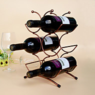 abordables Abridores y Accesorios de Bar-Estantes de Vino Hierro Fundido,22*15*34CM Vino Accesorios