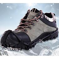 Tracción para Calzado Pies de Gato Crampones 18 dientes antideslizante Acero inoxidable para Camping y senderismo Escalada Motos de Nieve