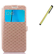 cheap Cases / Covers for Samsung-Case For Samsung Galaxy Card Holder Wallet with Stand Flip Full Body Cases Solid Color Hard PU Leather for Note 5 Note 4 Note 3