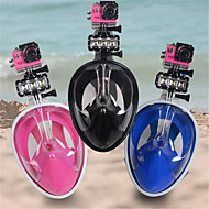 Diving Mask Snorkel Mask Snorkel Set Protective 180 Degree View Dry Top Full Face Mask Safety Gear-Kid's Adults' Swimming Diving /