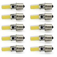 お買い得  LED スポットライト-10個 3 W 280-300 lm E17 LEDスポットライト T 1 LEDビーズ COB 装飾用 温白色 / クールホワイト 110-120 V / RoHs