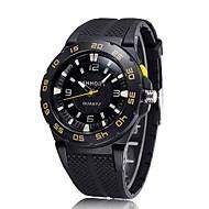 CAGARNY 남성용 패션 시계 손목 시계 석영 / 실리콘 밴드 캐쥬얼 멋진 블랙