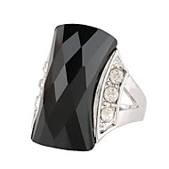 billige -Dame Ring Simuleret diamant Turkis Legering Bohemisk Moderinge Smykker Sort / Grøn Til Afslappet 7 / 8 / 9 / 10