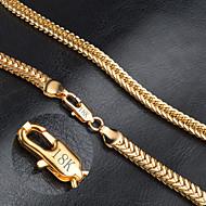 levne Šperky&Hodinky-Pánské Dámské Tvar Módní Řetízky Zlaté Řetízky Svatební Párty Denní Ležérní Kostýmní šperky