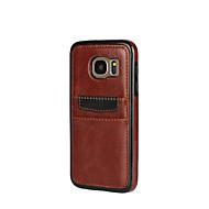 Case Kompatibilitás Samsung Galaxy A5(2016) A3(2016) Kártyatartó Ütésálló Hátlap Tömör szín Puha Műbőr Bőr mert A7(2016) A5(2016)