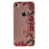 Mert IMD Case Hátlap Case Virág Puha TPU mert Apple iPhone 7 / iPhone 6s/6