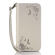 Varten Korttikotelo Tuella Flip Etui Kokonaan peittävä Etui Kukka Kova Tekonahka varten HTC HTC Desire 826 HTC Desire 626