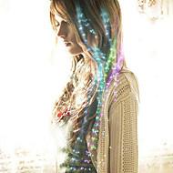 abordables Decoraciones de Boda-fibra óptica llevó horquilla pelo de la novia headwear el partido colorized 40cm